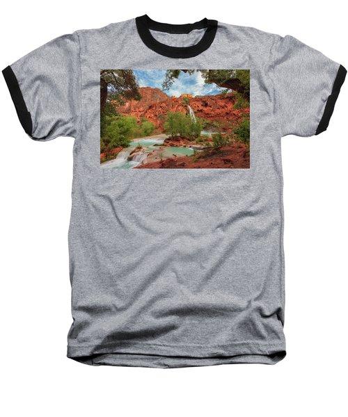 Havasupai Falls Pools Baseball T-Shirt
