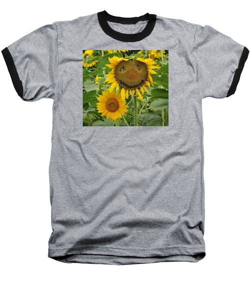 Have A Groovy Day Said The Hippie Flower Baseball T-Shirt by Joanne Brown