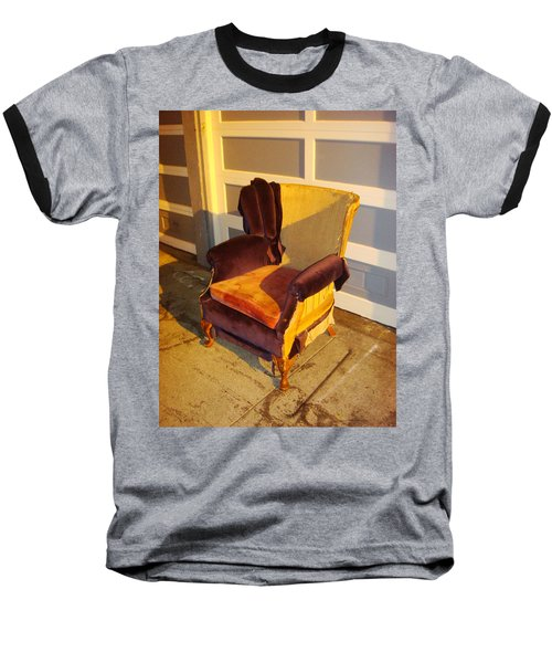 Baseball T-Shirt featuring the photograph Have A Seat In Dore Alley by Mr Photojimsf