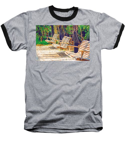 Baseball T-Shirt featuring the photograph Have A Seat Relax by Donna Bentley