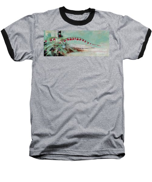 Have We Become Comfortably Numb Baseball T-Shirt by Frances Marino