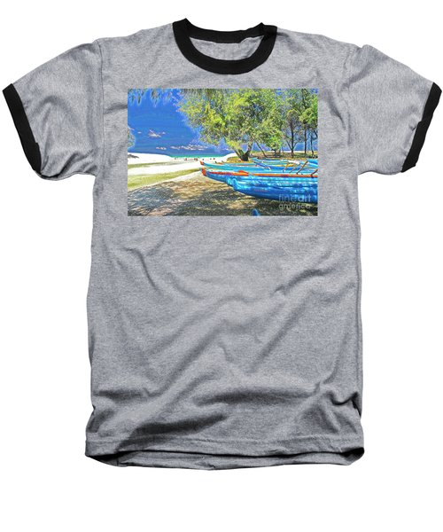 Hawaii Boats Baseball T-Shirt