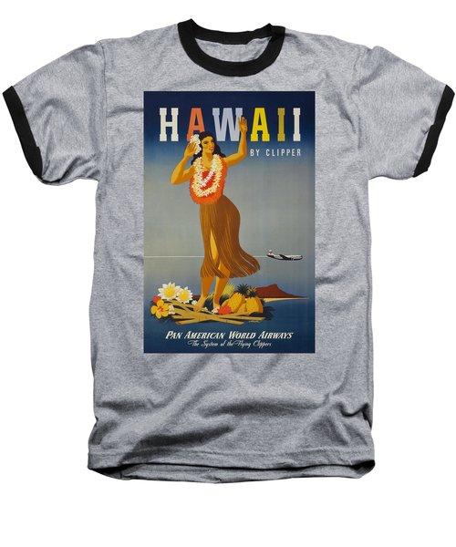 Hawaii By Clipper Baseball T-Shirt