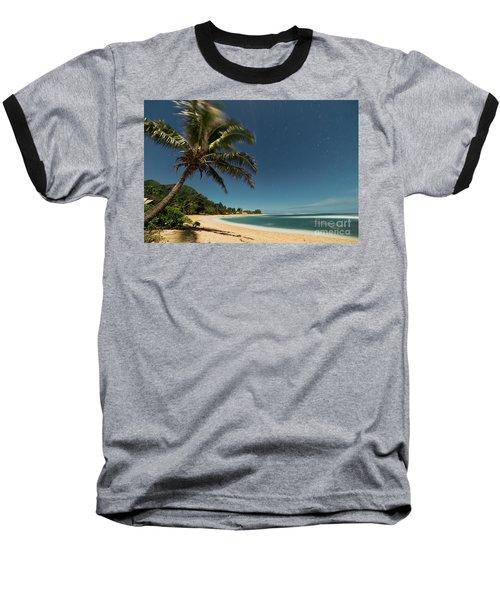 Hawaii Moonlit Beach Wainiha Kauai Hawaii Baseball T-Shirt