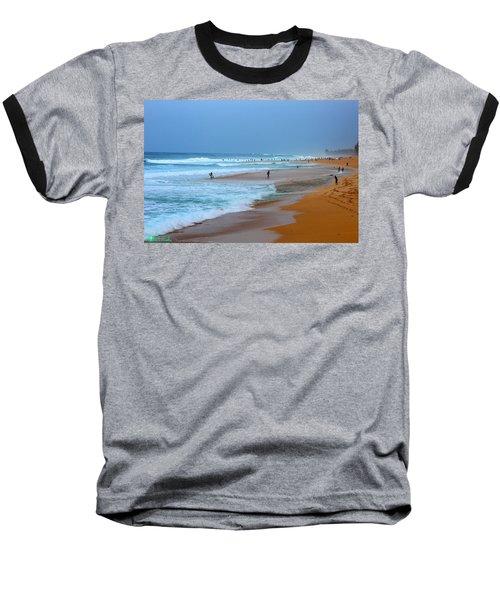 Hawaii - Sunset Beach Baseball T-Shirt by Michael Rucker