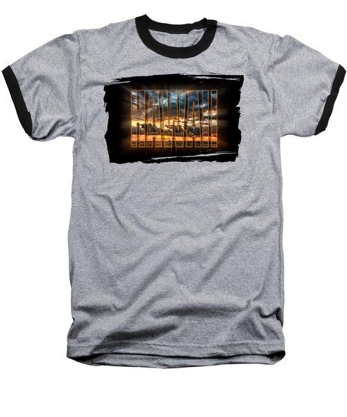 Hawaii Sunset Baseball T-Shirt by David Lawson