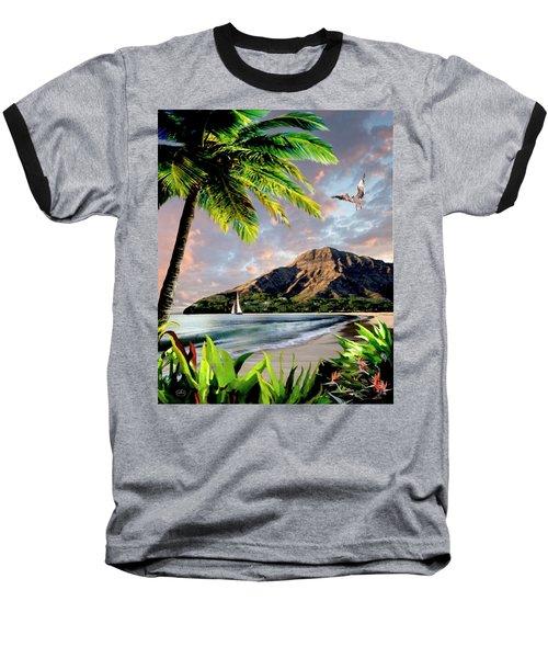 Hawaii Sunset Baseball T-Shirt by Ron Chambers