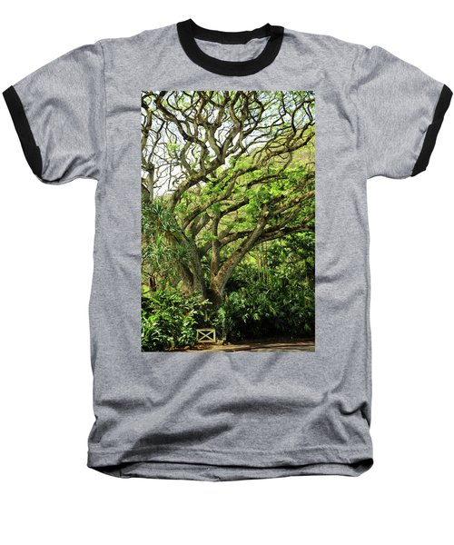 Baseball T-Shirt featuring the photograph Hawaii Tree-bard by Denise Moore