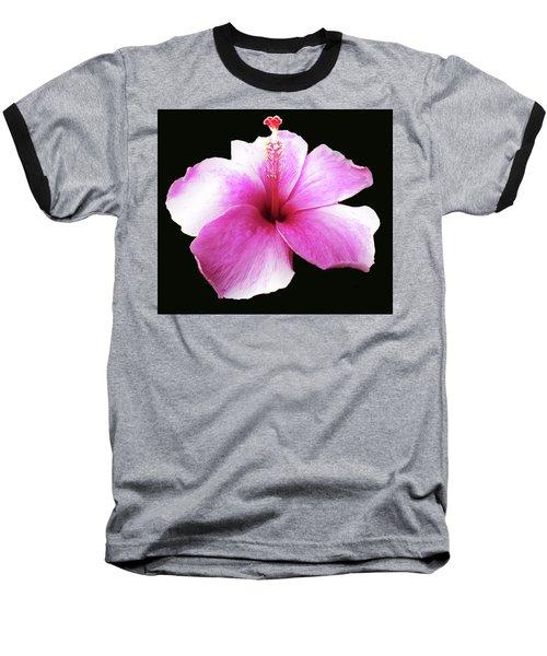 Hawaiian  Hibiscus Flower Baseball T-Shirt