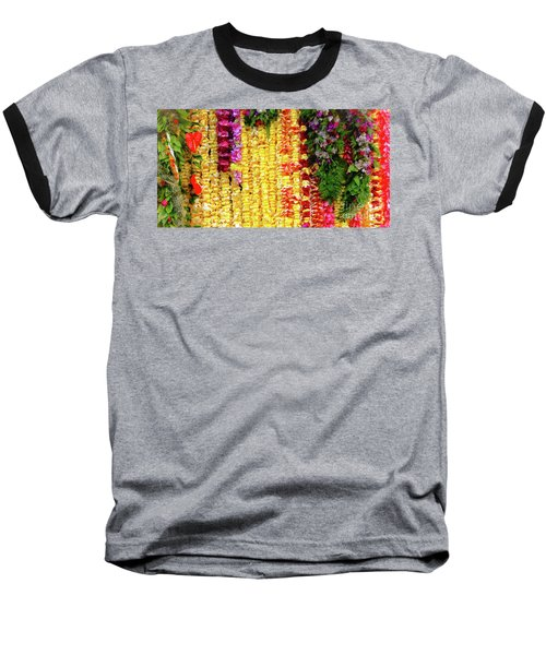 Hawaiian Flower Lei's Baseball T-Shirt