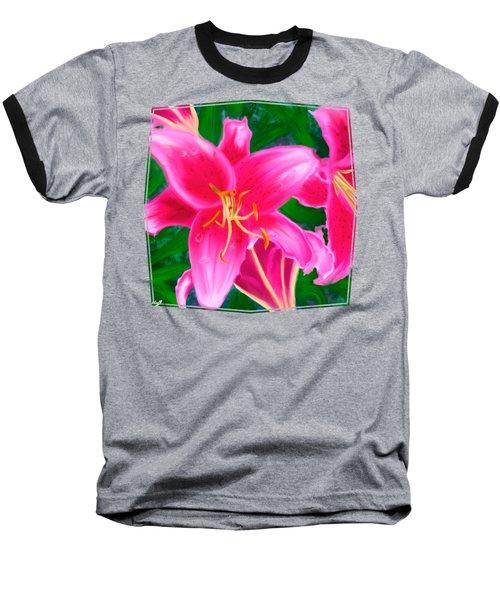 Hawaiian Flowers Baseball T-Shirt