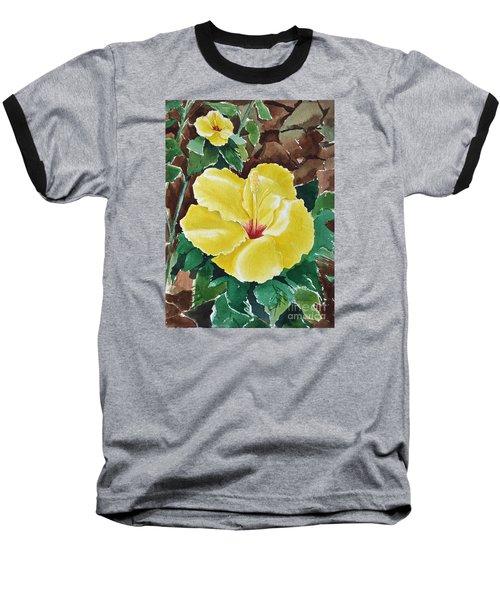 Hawaiian Hibiscus Baseball T-Shirt