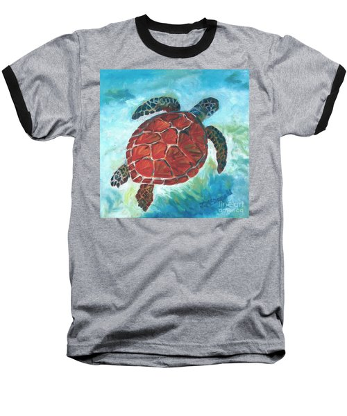 Hawaiian Honu Baseball T-Shirt