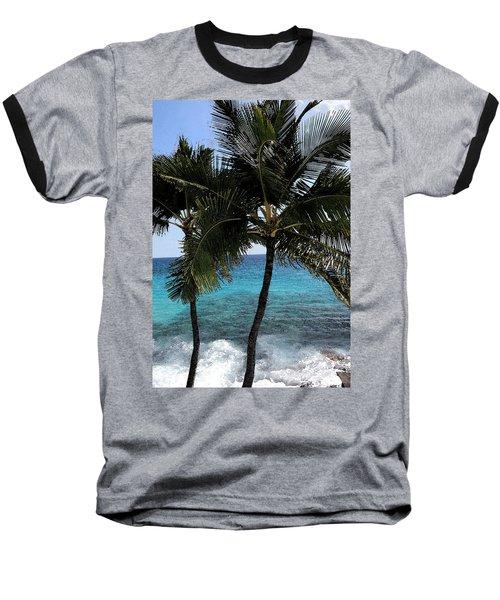 Hawaiian Palm Trees - All Images Copyright Karen L. Nicholson Baseball T-Shirt by Karen Nicholson