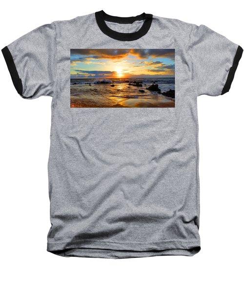 Hawaiian Paradise Baseball T-Shirt by Michael Rucker