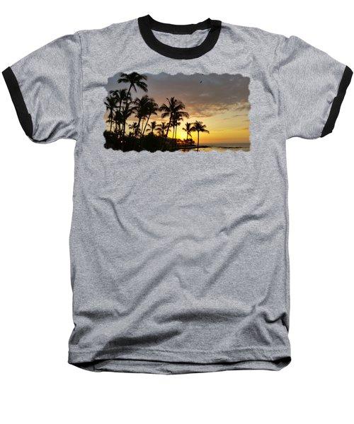 Hawaiian Sunset Design Baseball T-Shirt by Pamela Walton