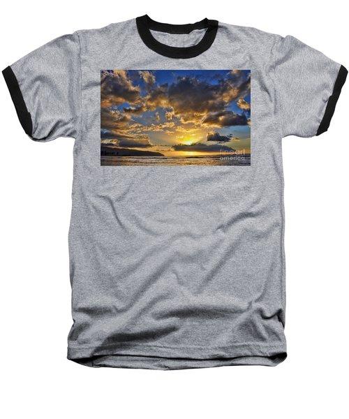 Hawaiian Sunset Baseball T-Shirt by Gina Savage