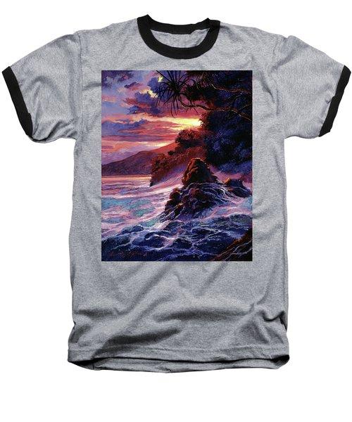 Hawaiian Sunset - Kauai Baseball T-Shirt