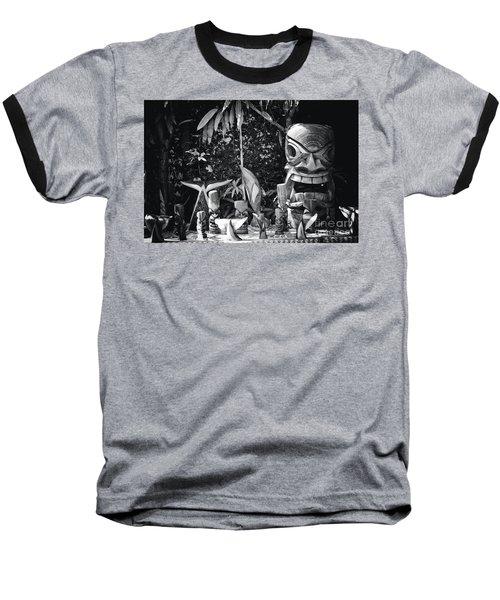 Baseball T-Shirt featuring the photograph Hawaiian Tiki Carvings by Sharon Mau