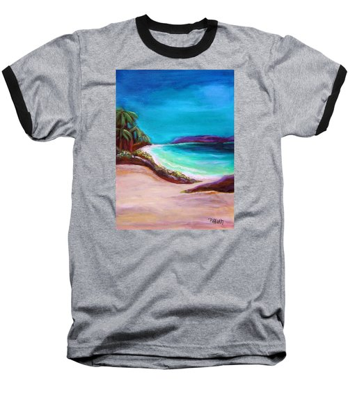 Hawaiin Blue Baseball T-Shirt by Patricia Piffath