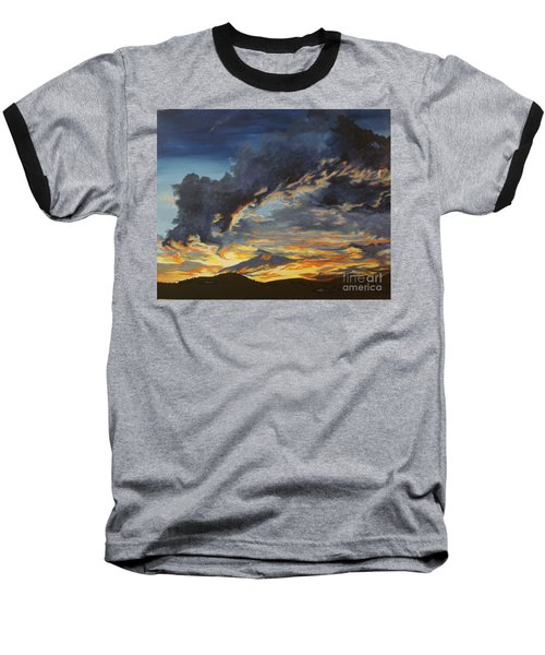 Baseball T-Shirt featuring the painting Hawcreek 7.11 by Stuart Engel