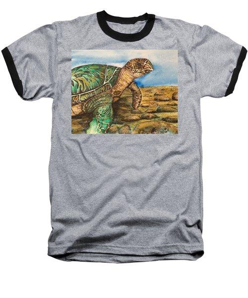 Hawkbilled Sea Turtle Baseball T-Shirt