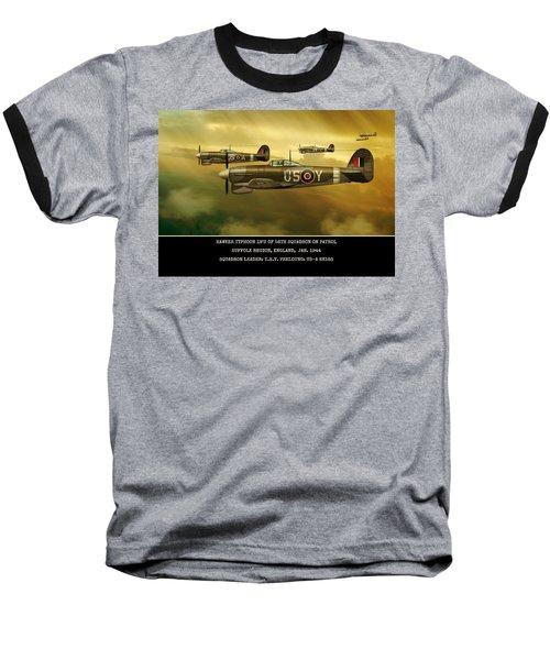 Baseball T-Shirt featuring the digital art Hawker Typhoon Sqn 56 by John Wills