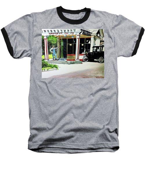 Hawkeye Oil Co Baseball T-Shirt