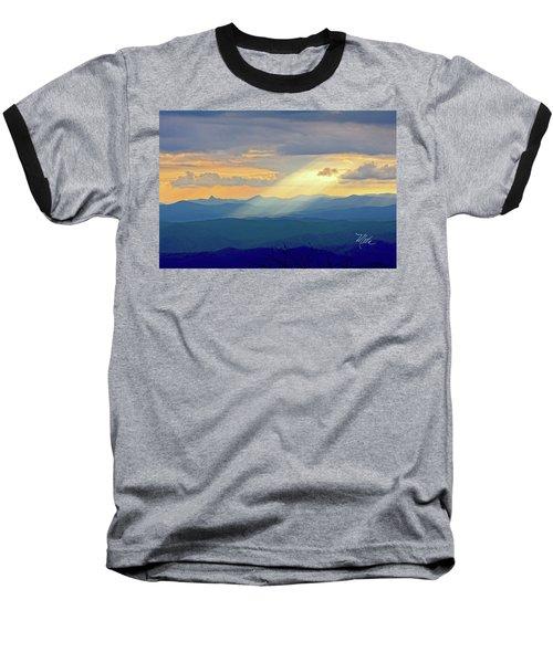 Hawks Bill Mountain Sunset Baseball T-Shirt