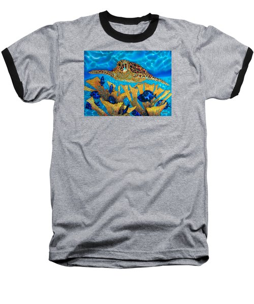 Hawksbill Sea  Turtle Baseball T-Shirt