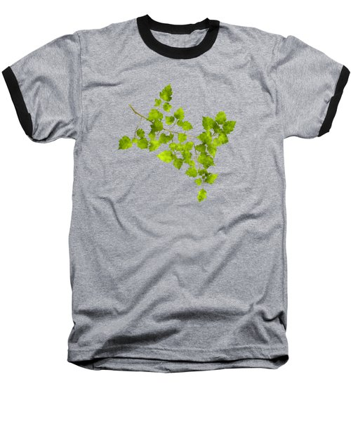 Hawthorn Pressed Leaf Art Baseball T-Shirt
