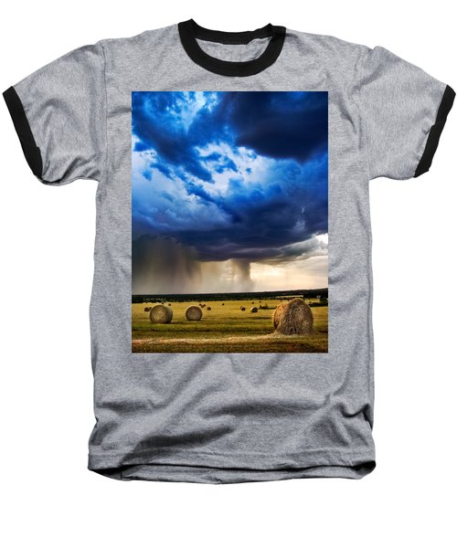 Hay In The Storm Baseball T-Shirt