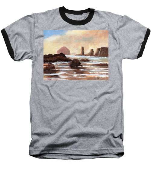 Hay Stack Reef Baseball T-Shirt by Randy Sprout