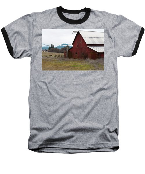 Hayfork Red Barn Baseball T-Shirt