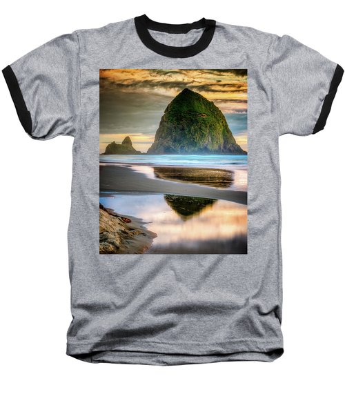 Haystack At Sunset Baseball T-Shirt