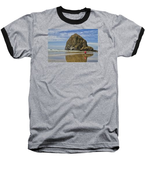 Haystack Rock 0258 Baseball T-Shirt