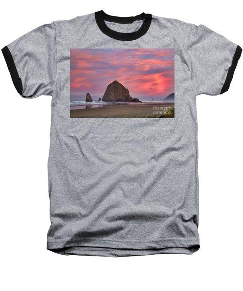 Haystack Rock- First Light Baseball T-Shirt