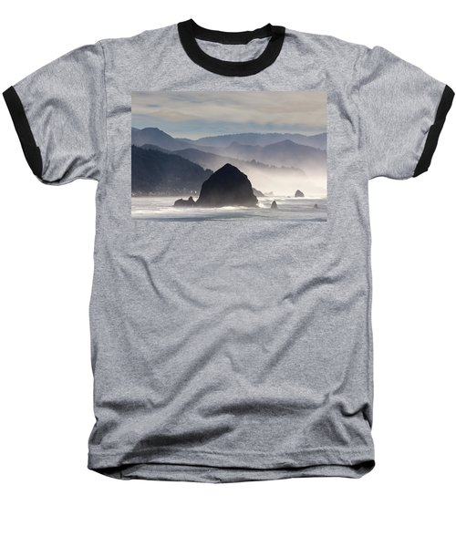 Haystack Rock On The Oregon Coast In Cannon Beach Baseball T-Shirt