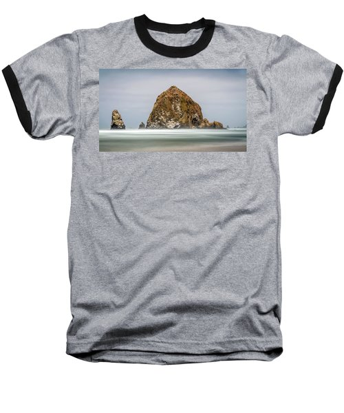 Baseball T-Shirt featuring the photograph Haystack Rock Oregon by Pierre Leclerc Photography