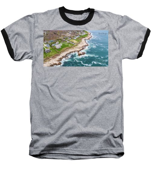 Hazard Rocks, Narragansett  Baseball T-Shirt