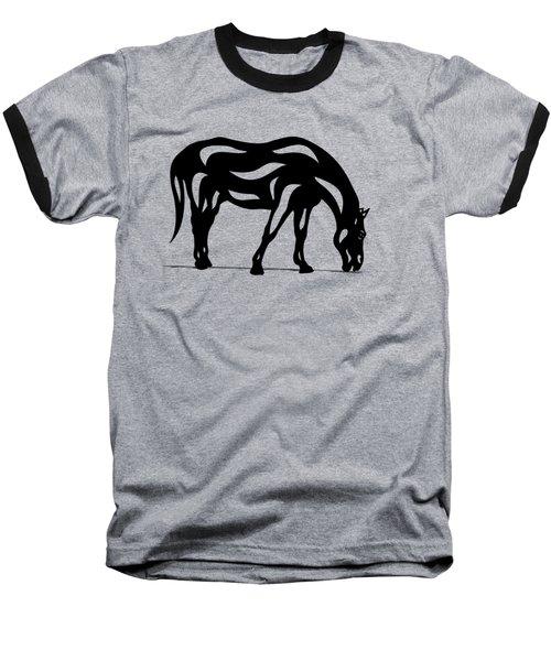 Hazel - Abstract Horse Baseball T-Shirt