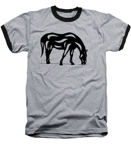 Hazel - Abstract Horse Baseball T-Shirt