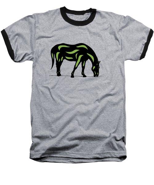 Hazel - Pop Art Horse - Black, Greenery, Purple Baseball T-Shirt