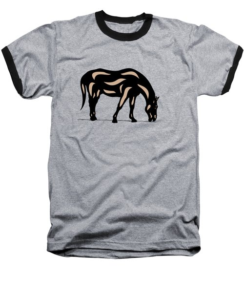 Hazel - Pop Art Horse - Black, Hazelnut, Greenery Baseball T-Shirt