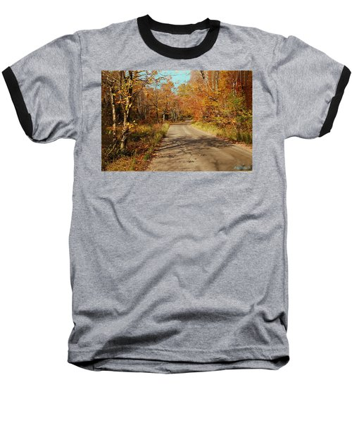 Hazen Notch Summit Road Baseball T-Shirt by John Selmer Sr