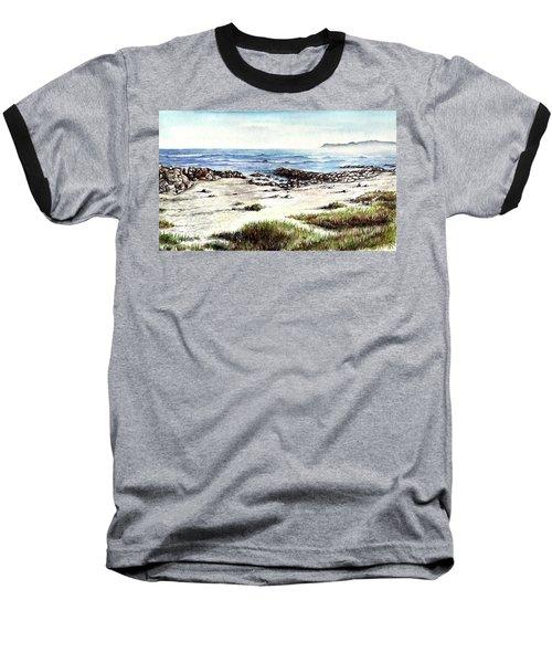 Baseball T-Shirt featuring the painting Hazy Coastline by Heidi Kriel