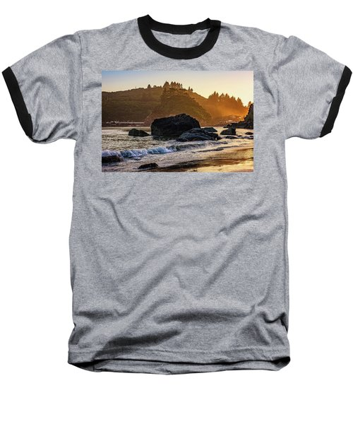 Hazy Golden Hour At Trinidad Harbor Baseball T-Shirt