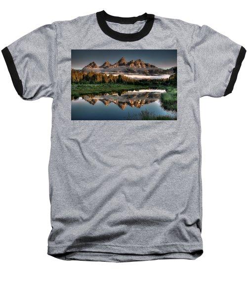 Hazy Reflections At Scwabacher Landing Baseball T-Shirt by Ryan Smith