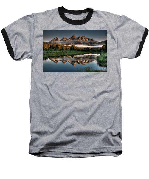 Hazy Reflections At Scwabacher Landing Baseball T-Shirt