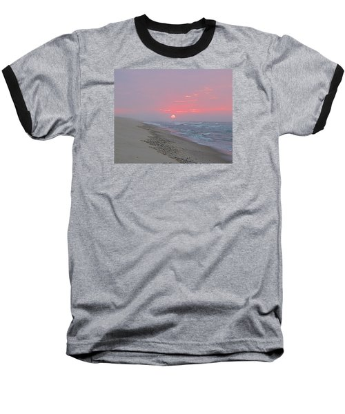 Baseball T-Shirt featuring the photograph Hazy Sunrise by  Newwwman